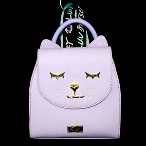 NWOT BETSEY JOHNSON Luv Betsey Kitty Cat Backpack Purse Lavender Lilac