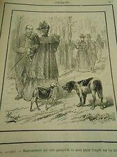 Typo 1890 - Médor satisfait discution de chiens