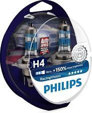 COPPIA LAMPADE PHILIPS H4 QUALITY ORIGINAL RACINGVISION +150%