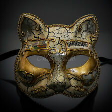 Gatto Cat Venetian Halloween Costume Masquerade Mask M7457 [Gold]