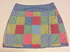 Vineyard Vines Womens Patchwork Faux Wrap Skirt Sz 2 Fish Starfish Colorful