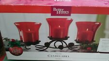 Better Homes & Gardens~Ruby Glass Candelabra~Holiday 2009 Limited Edition