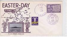 1953 BILKA NAVAL COVER USS JUNEAU CLAA-119 EASTER  CANCEL 4/10/1953 NEW YORK