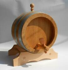 Wooden Wine Barrel Keg 3 Liter 0.8 Gallon Oak Wood