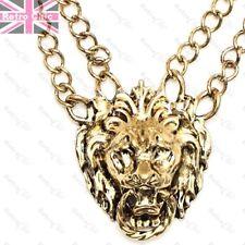 LION HEAD doorknocker BIG VINTAGE GOLD FASHION NECKLACE bling  HIP HOP CHAIN