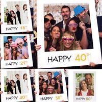 50*70cm Frame 18/21/30/40/50/60th 21st Selfie Birthday Photo Photograph Props
