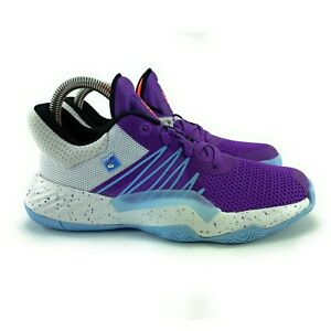 Adidas Youth D.O.N. Issue 1 C Purple White Basketball Shoes EH2443 Size 3 (GS)