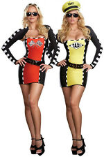 Women's Drive Me Crazy Sexy Taxi Driver Racecar 2-IN-1 Adult Costume Size XL