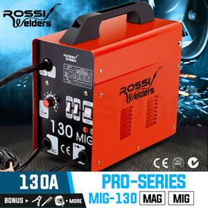 【EXTRA10%OFF】ROSSI 130Amp MIG Gas Gasless Welder Metal Inert Welding Machine