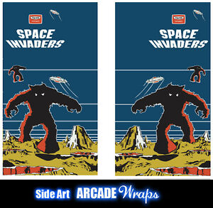 Space Invaders Arcade Side Artwork Panel Stickers Graphics  Laminated All Sizes