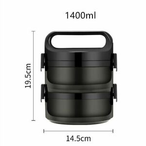 Large Thermal Bento Box Lunch Box Leak Proof 1 3 Layer Food Container Lunchbox