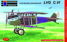 Kovozavody Prostejov 1/72 Model Kit 7273 LVG C.VI Decals Lithuanian AF