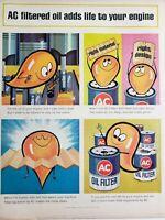 Lot of 3 Vintage 1964 AC Oil Filter Ads