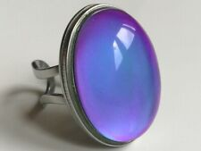 Queen of Destiny - Mood Ring Stainless Steel - 25x18 mm - Big Stone