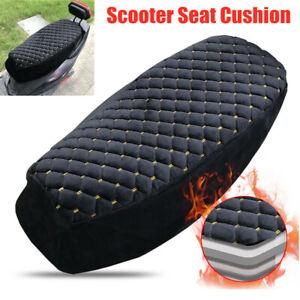 Universal Motorbike Anti-slip Seat Cushion Plush Cotton Warm Scooter Cover Mat