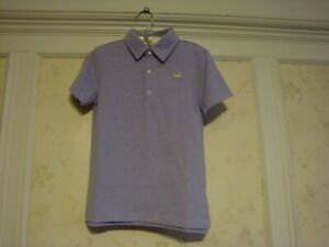 NWT Janie And Jack Boys Embroidered Dog Polo Top Shirt  5 5T   Lilac