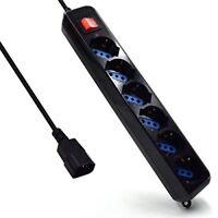 Ewent EW3925 Multipresa, Ciabatta Elettrica, Spina VDE per UPS, 6 Uscite (B5U)