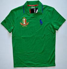 NWT mens POLO RALPH LAUREN Short Sleeve Polo Shirt, S, Small, Green, Performance