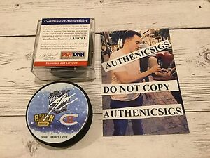 Brendan Gallagher Signed 2016 Winter Classic Canadiens Hockey Puck PSA DNA COA b