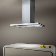 Elica Galaxy Island Hood Stainless Steel White Glass 90cm PRF0019192A