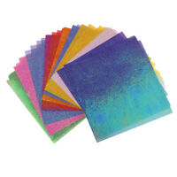 50Pcs Single Sided Pearlescent Shimmer Paper for DIY Scrapbooking Cardmaking