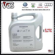 Olio Motore originale VW AUDI SEAT SKODA LongLife III 5W-30 VW 504 00/507 00