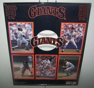 "SAN FRANCISCO GIANTS 16"" x 20"" Framed Poster  /  1989 Starline"