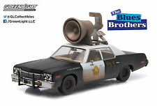 """Greenlight 1:43 Blues Brothers 1974 Dodge Monaco""""Bluesmobile Horn on Roof"""