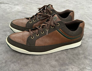 FootJoy Contour Casual Spikeless Golf Shoes Men's Size 12 M Brown Leather 54275