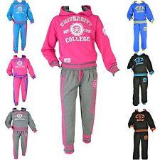 Kinder Neon Jogging Sportanzug Freizeit Training Fitness College Jungen Mädchen