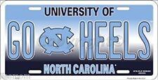 University of North Carolina Tarheels GO HEELS Embossed Metal License Plate