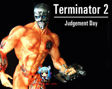Movie Terminator T-800 Nake body with Base  1/7 Resin Figure Model Kit 11inch.