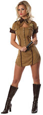Lady PULL OVER Sheriff Police Costume Sexy Dress + Badge Adult XS Small 0 2
