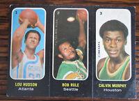 1971 - 1972 Topps Trios Lou Hudson/ Calvin Murphy/ Bob Rule #1 Basketball Card