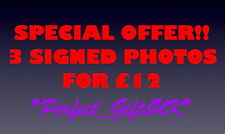 ANY 3 SIGNED 10X8 REPRODUCTION PHOTO PRINTS FOR £12 + FREE UK DELIVERY