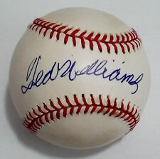TED WILLIAMS Single Signed Sweet Spot Baseball Rare Upper Deck Bold Auto UDA