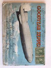 Antique Goodyear Zeppelin Corp Souvenir Folder Post Card Mailer