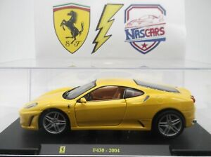 1/24 Ferrari F430 2004 jaune Hachette/Bburago Collection Les grandes Ferrari