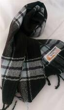 100% Cashmere Scarf Tartan Brown Blue Burgundy Timeless Classic Royal Rossi