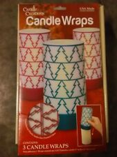 Candle Wraps by Candle Creations, 1 pack of 3 candle wraps