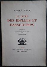 Editions Léon PICHON - André MARY Idylles & Passe-temps Pierre NOURY Dédicacé