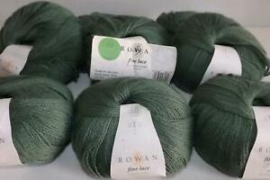 8 x Rowan Fine Lace Wool Yarn 80% Baby Suri Alpaca 20% Fine Merino PATINA 00924