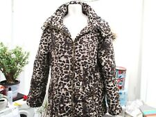 """h & m"" ladies leopard skin look padded winter jacket sz large hooded"