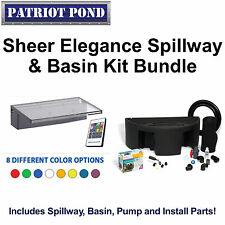 "Patriot Sheer Elegance 12"" Acrylic Color Changing Spillway and Basin Kit"