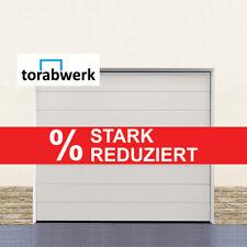 Garagentor Sektionaltor 40 mm M-Sicke Woodgrain Weiß + Handgriff + Schloss