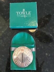 Vintage  Towle Sterling Silver 925 Vanity Compact Hand Mirror