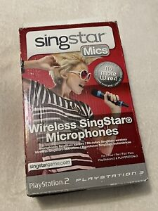 Official Singstar Playstation 2 PS3 Wireless Microphones- Boxed/ Working
