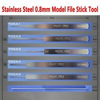 GALAXY Stainless Steel Ultrathin Model File Stick Hobby Craft Grinding Tools New