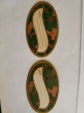 12 1900s Embossed Christmas Gift Tags & Seals. Nos Antique with orig packaging