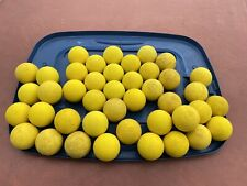 42 Assorted Lacrosse Balls 100% Yellow Rubber Meets Ncaa Used Nocsae Woman Girls